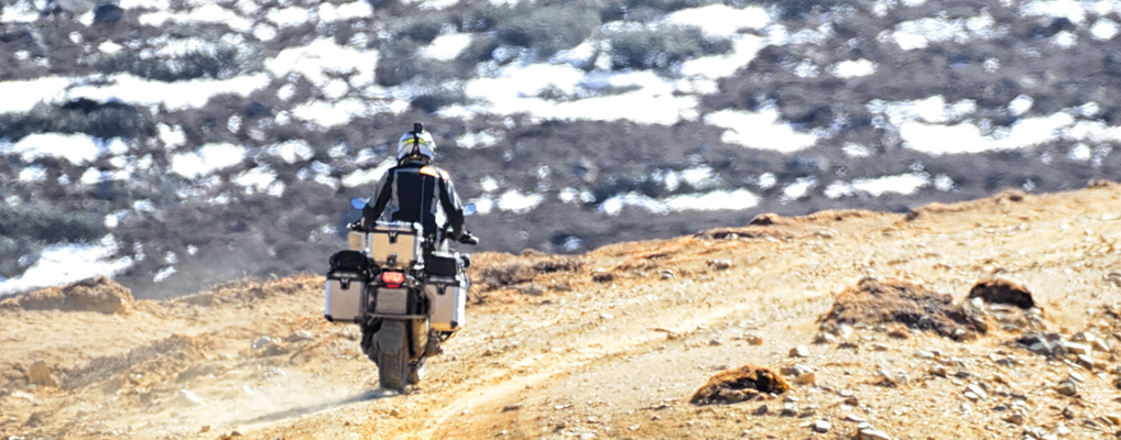 BMW GS offroad - transported with the MOTOLOADER to the starting point of the tour